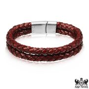 Men's Double Reddish Brown Bracelet