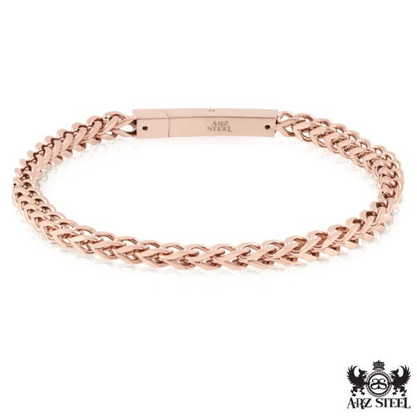 Rose Gold and Steel Bracelet