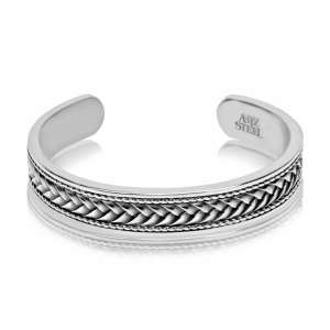 Stainless Steel open cuff Bangle