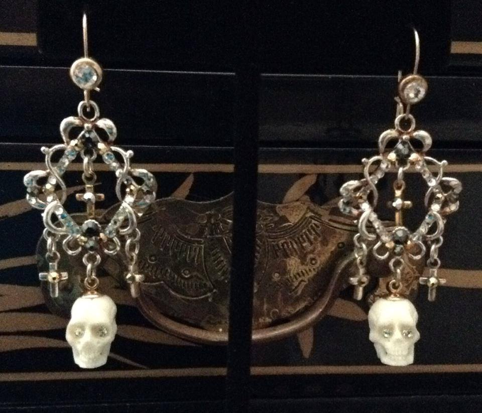 Skeleton Chandelier Earrings