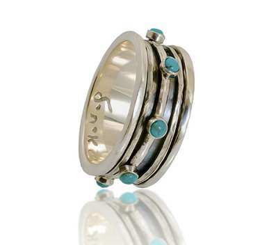 Silver with Turquoise