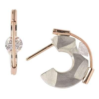 Small Hoop Post Earrings