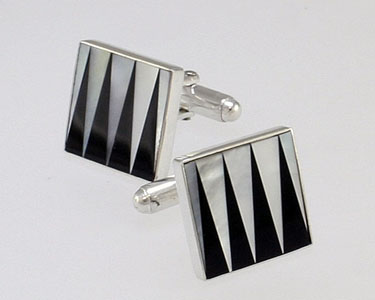 backgammon cufflinks