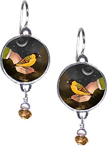 bird in hand earrings