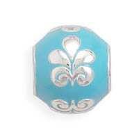 blue-bead-with-fleur-de-lis