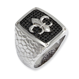 brilliant embers mens ring
