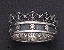 crown fleur de lis ring