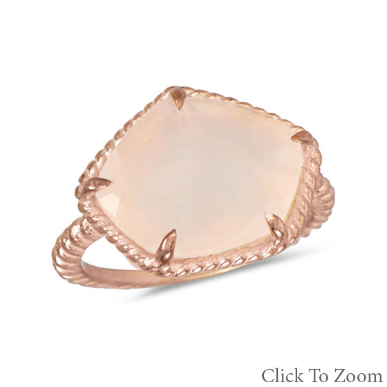 pentagon-rose-quartz ring