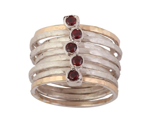 ring with garnets