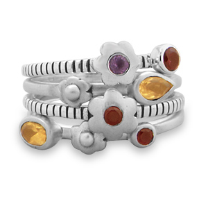 set-of-4-multistone-flower-rings