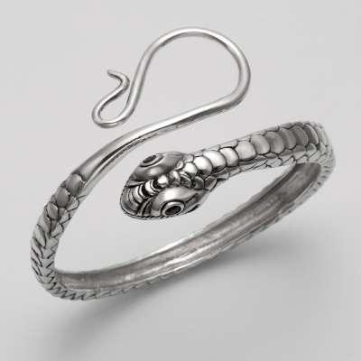 snake with garnet eyes bracelet