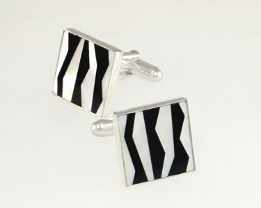 square-zebra-stripes cufflinks
