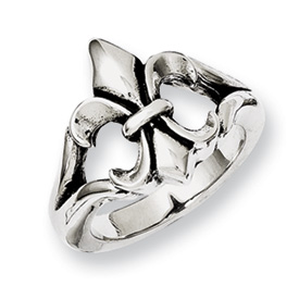 stainless steel fleur de lis