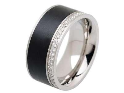 stainless steel with black enamel