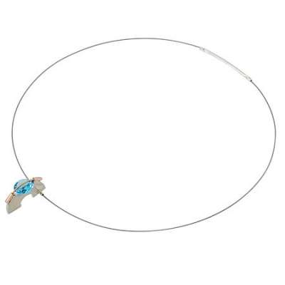 Tension Necklace w/Blue Topaz