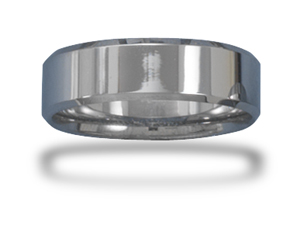 Tungsten Carbide 7mm Men's Ring with Beveled Edge