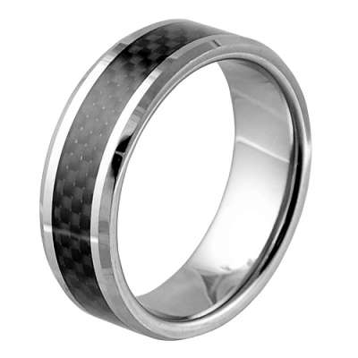 tungsten with carbon fiber inlay