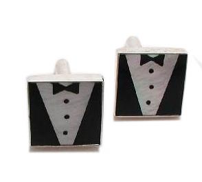tuxedo cufflinks