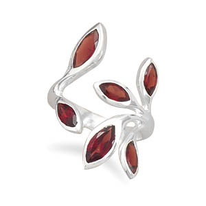 wraparound garnet ring